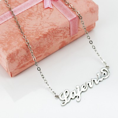 Silver S925 Silver Personalized Name Necklace