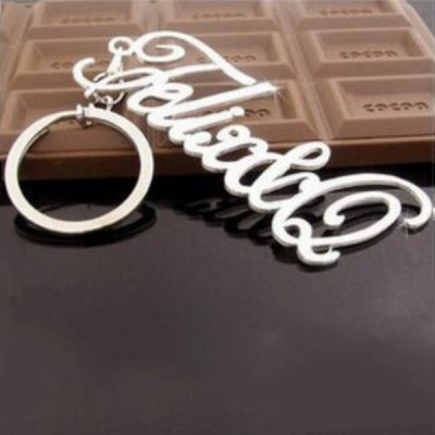 Personalized 925 Sterling Silver Name Key Chains