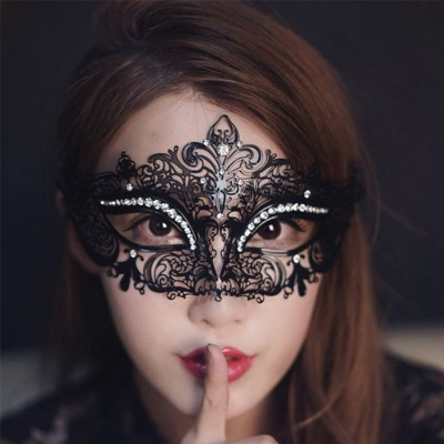 Black Halloween Masquerade Princess Hollow Out Masks
