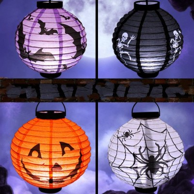 Halloween Electric Hanging Paper Lanterns