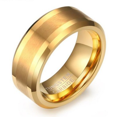 Tungsten Gold Color Men's Ring