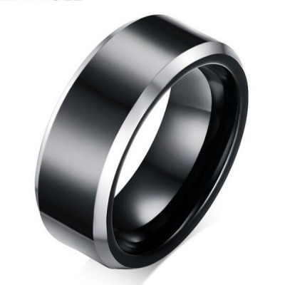 Tungsten Cool Black Men's Ring