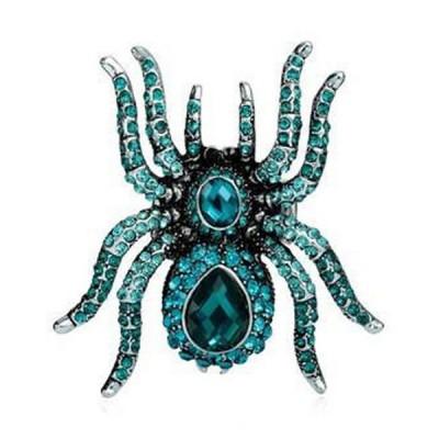 Gothic Blue Spider Ring
