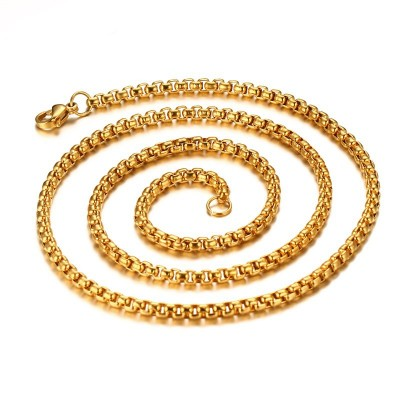Shining 3mm Gold Titanium Steel Chains