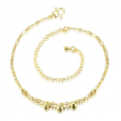 Nice Ball Silver/Gold Titanium Anklets