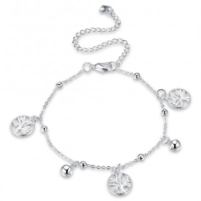 Lovely and Elegant Silver Titanium Anklets