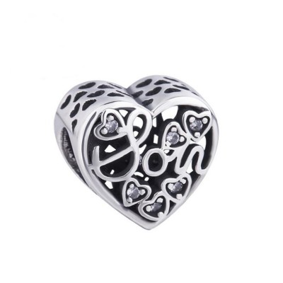 Mother & Son Charm Sterling Silver