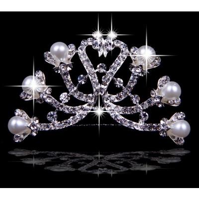 Elegant Czech Rhinestones Pearls Wedding Headpieces