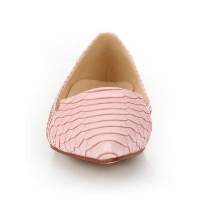 Women's Sheepskin Closed Toe Flat Heel With Fish-scale Pattern Casual Flat Shoes