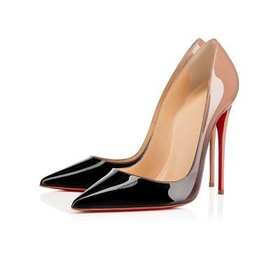 Women's Closed Toe Patent Leather Stiletto Heel High Heels