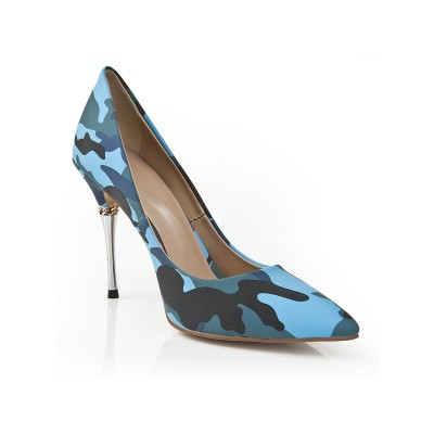 Women's Closed Toe Stiletto Heel With Leopard Print High Heels