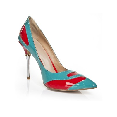 Women's Stiletto Heel With Chain Closed Toe High Heels