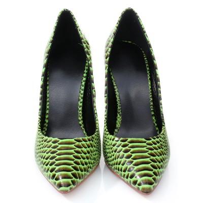 Women's Stiletto Heel Closed Toe PU With Snake Print High Heels