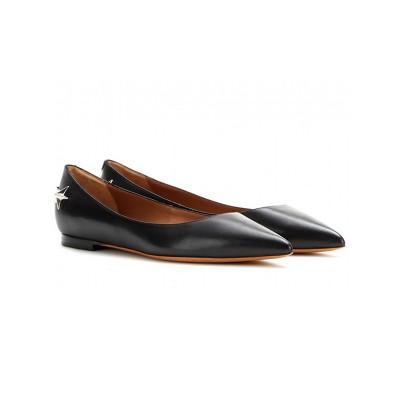 Women's Black Sheepskin Closed Toe Flat Heel Casual Flat Shoes