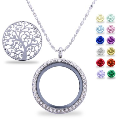 Family Tree of Life Birthstone S925 Silver Necklace