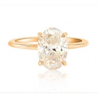 Oval Cut White Sapphire 925 Sterling Silver Gold Bridal Sets