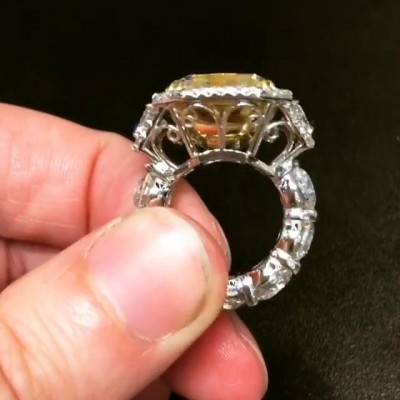 Radiant Cut Topaz 925 Sterling Silver Halo Engagement Rings
