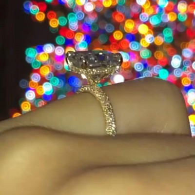 Radiant Cut White Sapphire 925 Sterling Silver Gold Engagement Rings