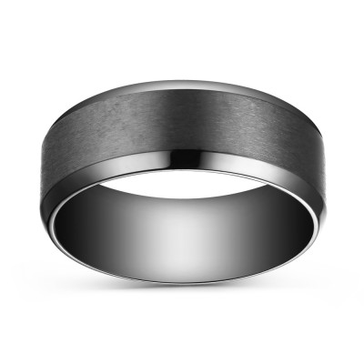 Titanium Nice Black Men's Ring