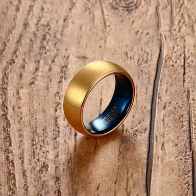 Tungsten Gold & Blue Men's Band