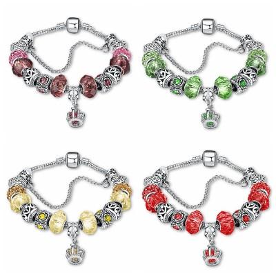 Red/Topaz/Emerald/Burgundy/Blue Silver Titanium Bracelets