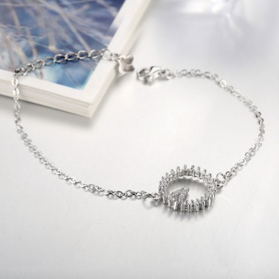Lovely Round Pendant S925 Silver Bracelets