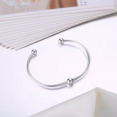 Simple and Elegant Silver Titanium Bangles