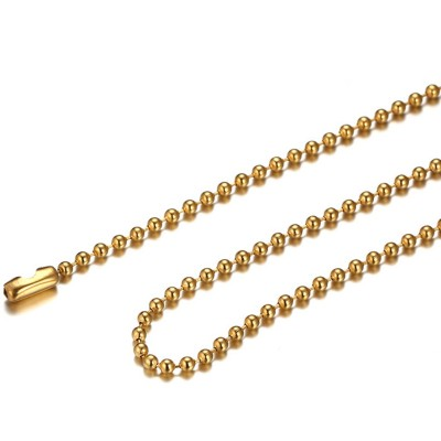 Gold Titanium Steel 2.4mm Chains