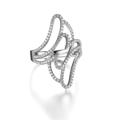 Round Cut Gemstone 925 Sterling Silver Cocktail Ring