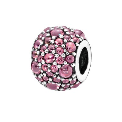 Pink Stones Charm Sterling Silver