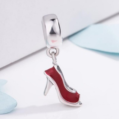 Red Heels Charm Sterling Silver