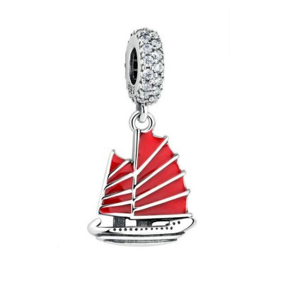 Grand Boat Charm Sterling Silver