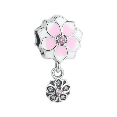 Flowers Charm Sterling Silver