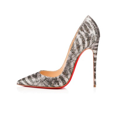 Women's Sparkling Glitter Closed Toe Stiletto Heel High Heels