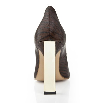 Women's Stiletto Heel Closed Toe With Leopard Print Office High Heels
