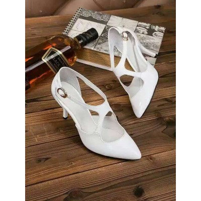 Women's Cone Heel Patent Leather Closed Toe With Buckle Sandals Shoes