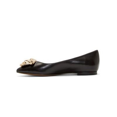Women's Sheepskin Closed Toe Flat Heel Casual Flat Shoes