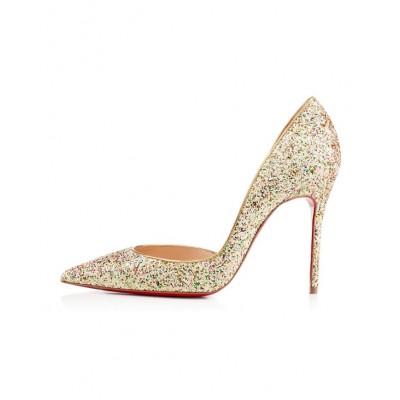 Women's Closed Toe Stiletto Heel With Sequin High Heels