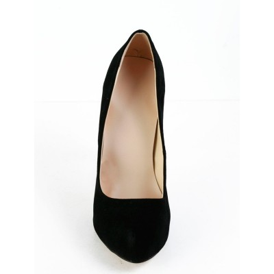 Women's Stiletto Heel Suede Closed Toe Platform Platforms Shoes