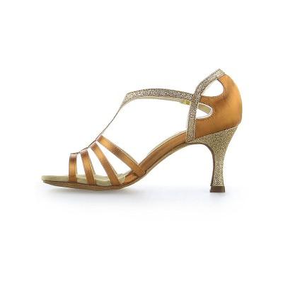 Women's Peep Toe Buckle Stiletto Heel Satin Dance Shoes